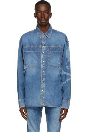 MASTERMIND JAPAN Blue Light Oz Denim Work Shirt