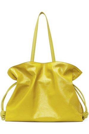 Loewe Yellow Patent XL Flamenco Tote