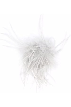 Caffe' D'orzo Feather-detail pin - Grey