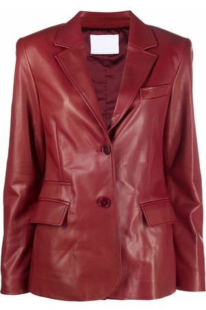 DROME Women Blazers - Single-breasted leather blazer