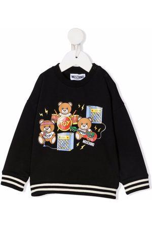 Moschino Sweaters - Teddy bear-print jumper
