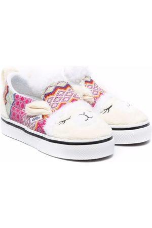 Vans Flat Shoes - Alpaca slip-on sneakers - Neutrals