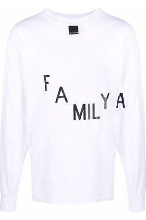 Palm Angels Men Long Sleeve - Text-print long-sleeve T-shirt