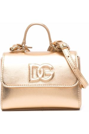 Dolce & Gabbana Embossed-logo leather tote bag