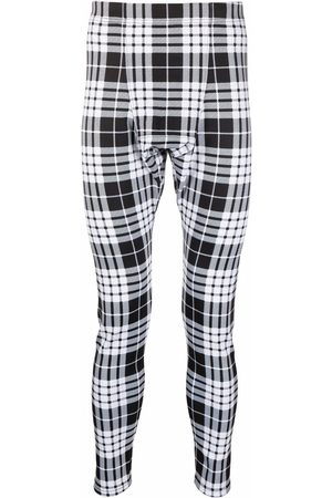 Comme des Garçons Men Skinny Pants - Check slim-leg trousers