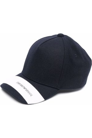 Emporio Armani Knitted logo-strip cap