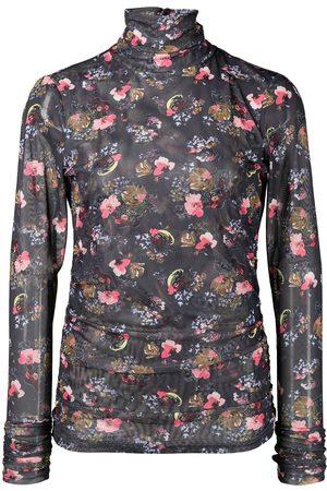 Cinq A Sept Women High Necks - High-neck floral-print top
