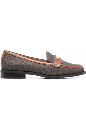 Michael Kors Finley monogram-print loafers