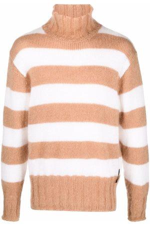 Fendi Striped roll-neck jumper