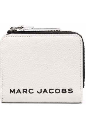 Marc Jacobs Mini The Bold Colorblocked Compact Zip logo-debossed wallet