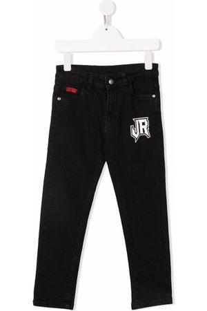 John Richmond Junior Boys Slim - Logo print slim-fit jeans