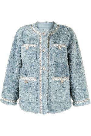 B+AB Textured teddy fleece jacket
