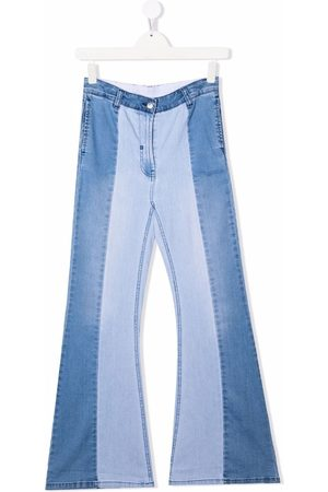 Stella McCartney TEEN contrast flared jeans