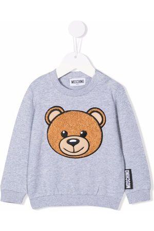 Moschino Teddy Bear-motif cotton sweatshirt - Grey