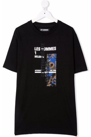 LES HOMMES KIDS TEEN graphic-print short-sleeved T-shirt