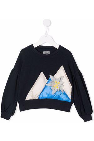 Il gufo Flower-detail cotton sweatshirt