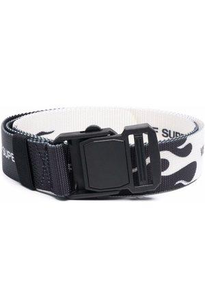 Vision Of Super Flame-print buckle belt