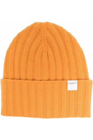 Paolo Pecora Logo-patch ribbed beanie