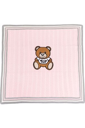 Moschino Kids Teddy Bear motif knitted blanket
