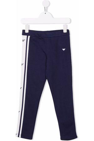 Emporio Armani Side stripe-print track pants