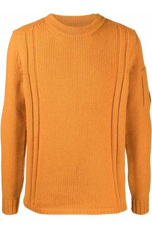C.P. Company Men Sweatshirts - Logo-patch knitted jumper