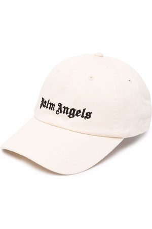 Palm Angels Men Caps - Logo-embroidered baseball cap - Neutrals