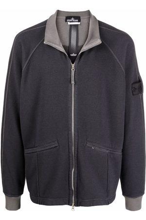 Stone Island Logo-patch fleece jacket - Grey