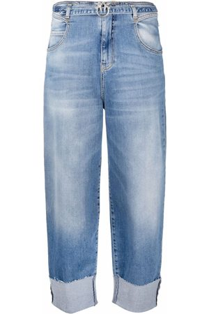 Pinko Wide-leg cropped jeans