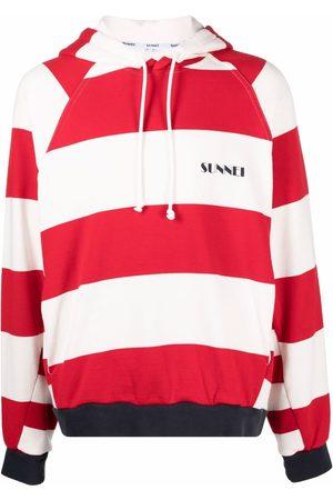 SUNNEI Hoodies - Striped cotton hoodie