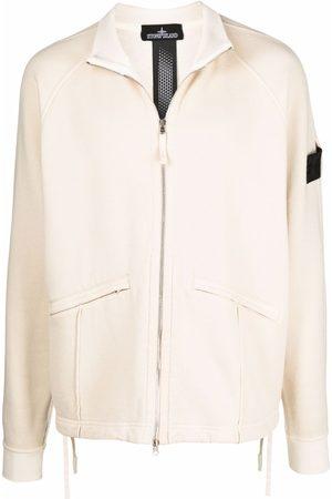 Stone Island Men Fleece Jackets - Logo-patch fleece jacket