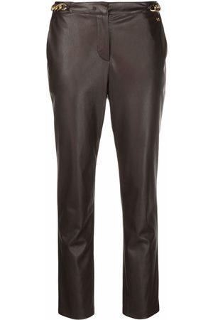 Liu Jo Leather-effect slim-cut trousers