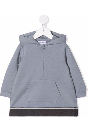 Emporio Armani Half-zip fastening hoodie