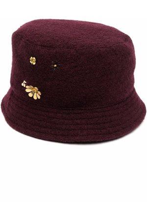 BONPOINT Floral-embellished felted bucket hat