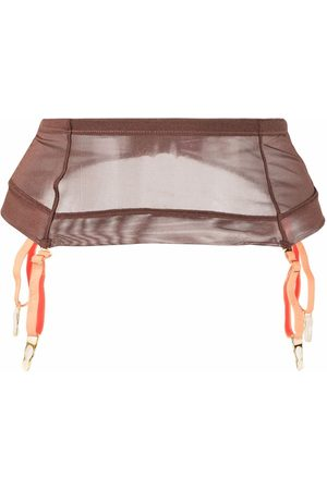 MAISON CLOSE Semi-sheer garter belt