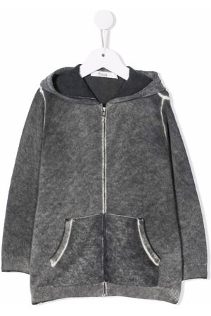 BONPOINT Washed-effect zipped hoodie - Grey