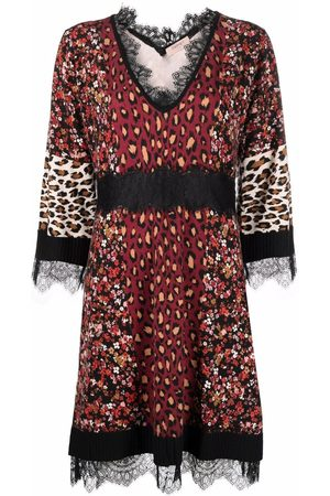 Twin-Set Patterned V-neck dress