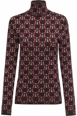 Prada Women Tops - Patterned-jacquard funnel-neck top