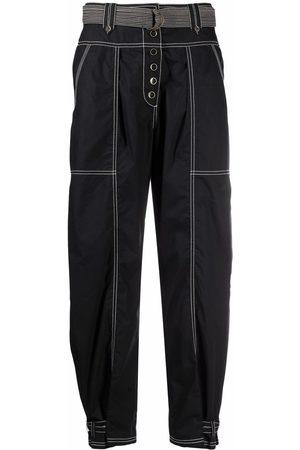 ULLA JOHNSON Contrast-stitch straight trousers