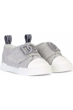 Dolce & Gabbana Boys Sneakers - Logo touch-strap trainers - Grey