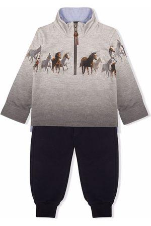 Lapin House Horse-print sweatshirt tracksuit - Grey