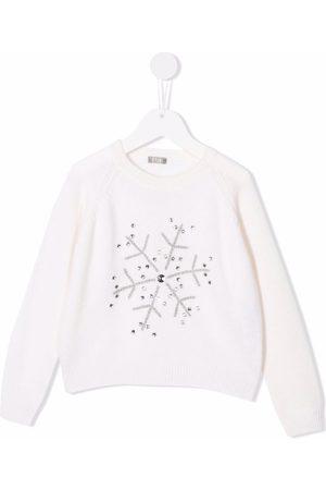 Il gufo Sweaters - Rhinestone embroidered snow flake jumper