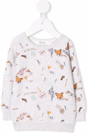 BONPOINT Hoodies - Motif print sweatshirt - Grey