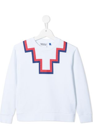 MARCELO BURLON Boys Hoodies - Rear logo-print sweatshirt
