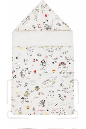 Dolce & Gabbana Sketch-print cotton sleeping bag