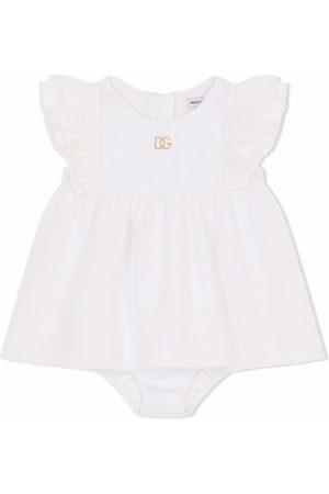 Dolce & Gabbana Baby Dresses - Logo embroidered cotton dress