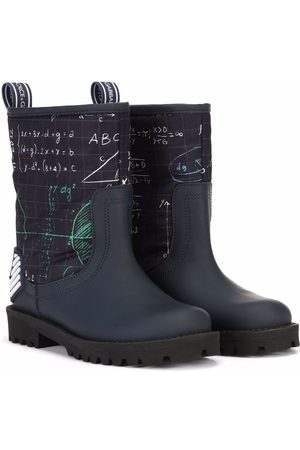 Dolce & Gabbana Boys Ankle Boots - Algebra-print ankle boots