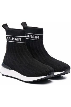 Balmain Logo-print sock sneakers