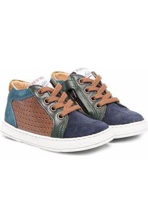 Pom d'Api Sneakers - Colourblock lace-up leather sneakers