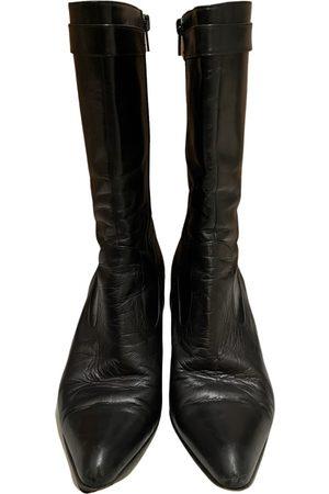 Salvatore Ferragamo Leather biker boots