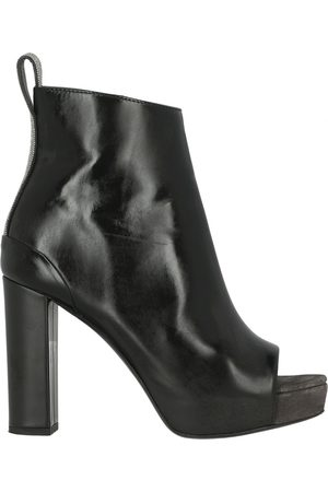 Brunello Cucinelli Women Ankle Boots - Leather open toe boots
